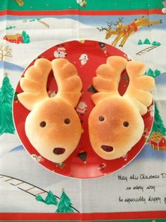 Reindeer buns. Merry Christmas!