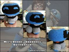Mei's Drone, Snowball (from Overwatch) Pattern by ArtisticGaming