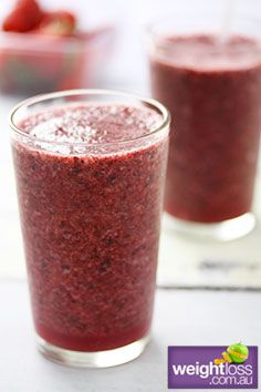 Healthy Drink Recipes: Summer Berry Cooler. #HealthyRecipes #DietRecipes #WeightlossRecipes weightloss.com.au