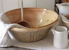 Antique French pottery bowl