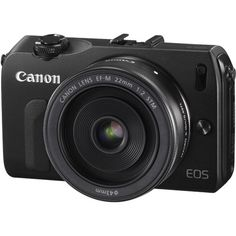 Canon EOS M Black Digital Camera with 22mm f2 Lens and EF Adapter