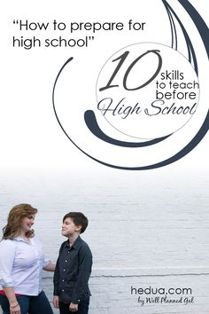Before we started school last year I thought through some ways to make it easier for her to transition into high school course work. Here are some of the things we did: