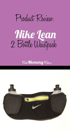 """I bought this new Nike Lean 2 Bottle Waistpack hydration belt this summer when I trained form y first half marathon. Read how well it performed by clicking """"Read it""""."""