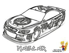 Mega NASCAR Sports Car Coloring