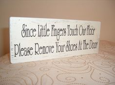 Awww cute! I want this! No one seems to listen to me when I say take your shoes off at the door!