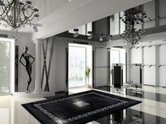 Creative Design Ideas Turning Floor Rugs to Fabulous Home Decorations with Crystals