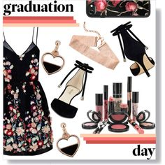 A fashion look from April 2017 by excalibaby featuring The 2nd Skin Co., Nine West, Casetify, Rouge Bunny Rouge and Graduation