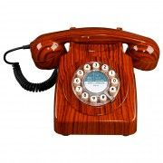 Retro 746 Telephone in Wood Effect, download this press image at www.prshots.com/press #office #home #interior #study #accessories #homedeco #homeware #stationary