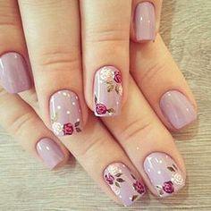 Decent Looking Flower Nail Art Designs - Best Nail Art Chic Nails, Classy Nails, Simple Nails, Trendy Nails, Classy Nail Designs, Nail Art Designs, Nails Design, Design Art, Toe Nails