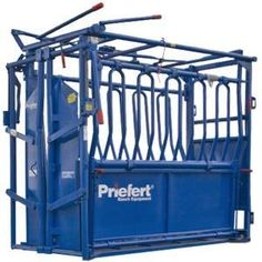 McCoy's is proud to carry Priefert farm and ranch products like this squeeze chute. www.mccoys.com