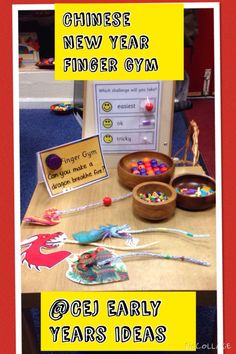 Chinese New Year Finger Gym Chinese New Year Activities, Chinese New Year Crafts, New Years Activities, Activities For Kids, Eyfs Activities, Motor Skills Activities, Preschool Themes, Fine Motor Skills, Finger Gym