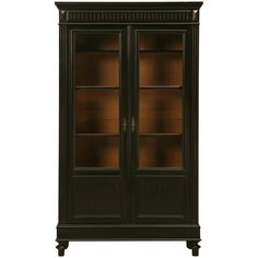 "Antique French ""Real"" Ebonized Bookcase 