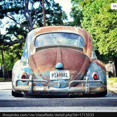 Slammed Vw beetle Vw Bus, Vw Camper, Vw Rat Rod, Old Bug, Kdf Wagen, Rat Look, Vw Vintage, Abandoned Cars, Vw Beetles