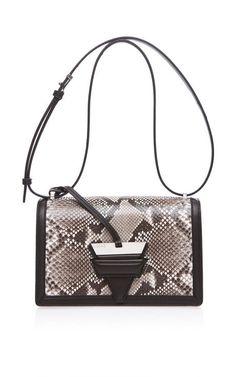 Barcelona Shoulder Bag In Natural And Black Python by Loewe for Preorder on Moda Operandi