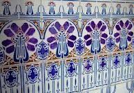 The Hague, Art Nouveau tile tableau, Netherlands