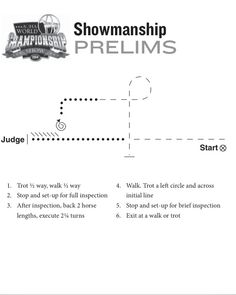 This is the Showmanship prelims pattern for the 2014 Select World. Horse Exercises, Training Exercises, Hunter Under Saddle, Hunt Seat, Horse Showing, Winter Horse, Horse Show Clothes, Horse Training Tips, Western Riding