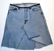Make a jeans skirt from Simplicity