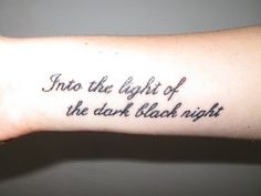 <3 the font and placement for a different tat that I want...