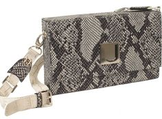 Trend Finder: Minaudieres--Joanel Small snake print bag with detachable strap