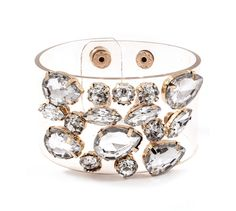 Cameron Bracelet in Crystal Clear on Emma Stine Limited