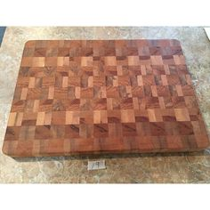Solid Maple Spalted Red Oak Hardwood End Grain Cutting Board,... ($72) ❤ liked on Polyvore featuring home, kitchen & dining, kitchen gadgets & tools, handmade cutting boards, butchers block chopping board, red oak butcher block, hardwood cutting boards and butcher block cutting board