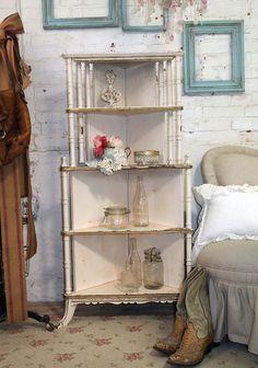 Vintage corner shelf