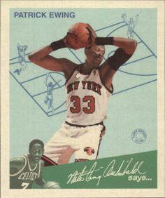 1997-98 Fleer Goudey Greats #3 Patrick Ewing New York Knicks #FleerGoudey #NewYorkKnicks