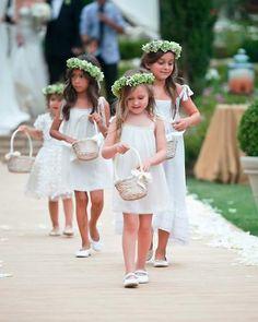 Daminhas de Honra cabelos e vestidos
