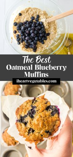 These tender oatmeal blueberry muffins are soft and fluffy, studded with plenty of blueberries for a sweet flavor!