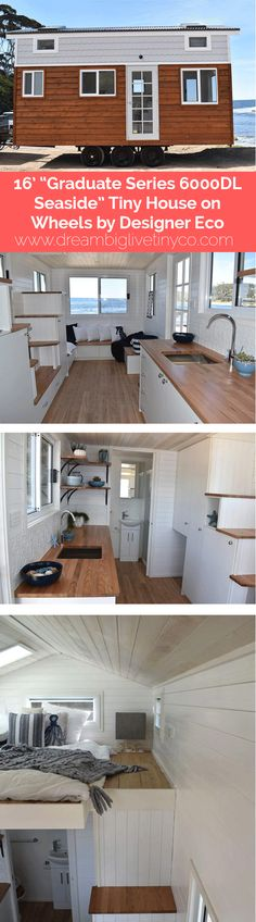"""16' """"GRADUATE SERIES 6000DL SEASIDE"""" TINY HOUSE ON WHEELS BY DESIGNER ECO HOMES"""