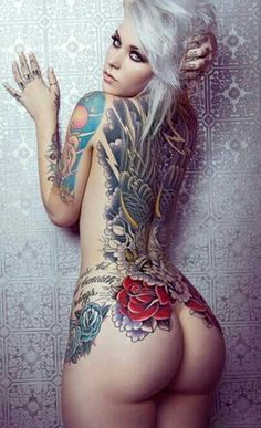 Roses & Wings Tattoo