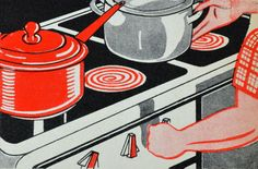 Scanning Around With Gene: Teaching Kids About Industry (1939) | excellent use of a 2-color palette in this image