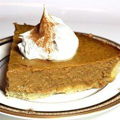 Sugarless Pumpkin Pie - Allrecipes.com recommended to use splenda.