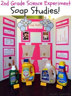 Laundry Soap Science Experiment ~ SuperMom Monday on SuperMom Science Fair Topics, Science Fair Board, Science Fair Experiments, Science Lessons, Science Activities, 5th Grade Science, Stem Science, Elementary Science, Science Classroom