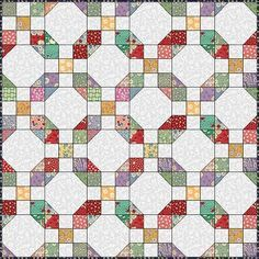 9 patch and snowball pattern useful for using up all our left over fabrics and makes a gorgeous Quilt ! Jellyroll Quilts, Easy Quilts, Scrappy Quilts, Pattern Blocks, Quilt Block Patterns, Quilt Blocks, Vintage Quilts Patterns, Snowball Quilts, Nine Patch Quilt