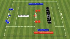 Soccer Practice Drills, Football Coaching Drills, Soccer Drills For Kids, Soccer Skills, Soccer Games, Soccer Training Program, Soccer Training Drills, Soccer Workouts, Football Tactics