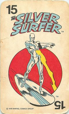 The Silver Surfer - Marvel Comics Superheroes Card Game by andertoons, via Flickr ... °°