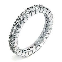 Best 5: Illianna: Womens Sterling Silver Russian Ice Diamond CZ Eternity Anniversary Band Ring (avail. in sizes 5 to 9) elegant jewelry reviews