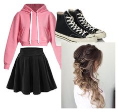"""Untitled #9"" by rory2k on Polyvore featuring Natasha Zinko and Converse"