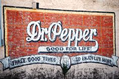 Wall advertisement in Hico, Texas