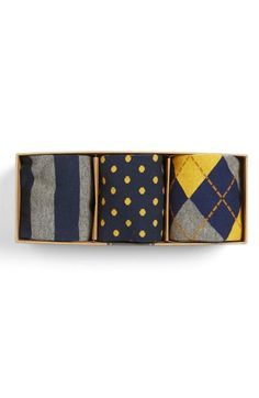The Tie Bar Mustard Sock Style Box available at #Nordstrom