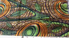African Fabric Hollandais Block Wax Print