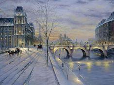 """Winter in Paris ~ Paris, France"" ~ by Robert Finale"