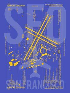 SFO San Francisco Airport Diagram - SFO Airport Code