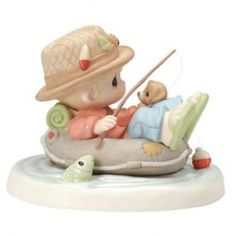 Bring a whimsical touch to your home decor with the Man Fishing Figurine from Precious Moments. Crafted from hand-painted bisque porcelain, this charming figurine makes the perfect gift for your favorite fisherman. Romantic Gifts For Him, Diy Gifts For Him, Grandparents Day Gifts, Fathers Day Gifts, Fisherman Gifts, Precious Moments Figurines, Fish Man, Relationship Gifts, My Precious
