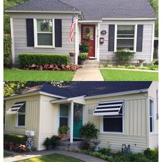 Removed Old Aluminum Awnings Painted House Valspar Wet