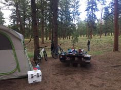 Our setup in Pike National Forest outside of Woodland Park CO. #camping #hiking #outdoors #tent #outdoor #caravan #campsite #travel #fishing #survival #marmot http://bit.ly/2vkn5W5