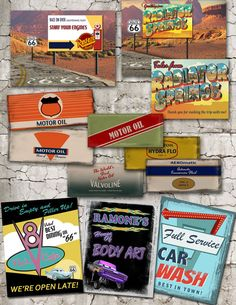 Party PackVintage Radiator Springs Printable by theblueeggevents