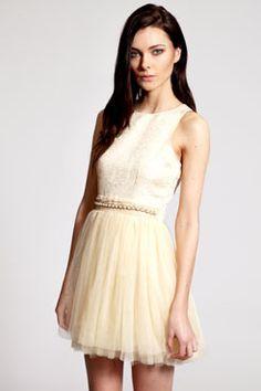Boutique Christa Embellished Pearl Detail Tutu Dress. $50 boohoo.com