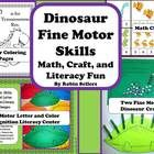 Dinosaur Fine Motor Skills activities for math centers, science centers and literacy fun: This set includes four different learning centers